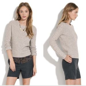 Madewell Wallace cable knit Sweater. Size S